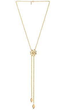 Vanessa Mooney Jane Bolo Necklace in Gold