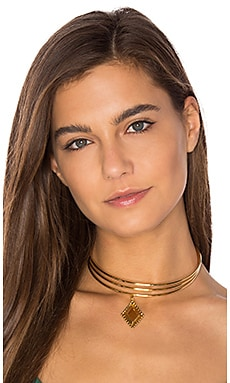 Vanessa Mooney Brooklyn Diamond Choker in Gold