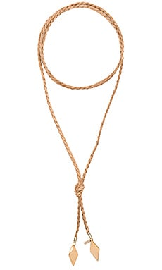 Braided Diamond Bolo en Or