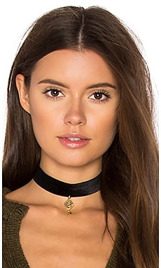 Vanessa Mooney Diamond Choker in Gold
