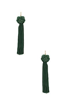 Astrid Knotted Tassel Earring in Green