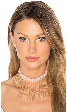 X REVOLVE Chain Fringe Choker in Blush