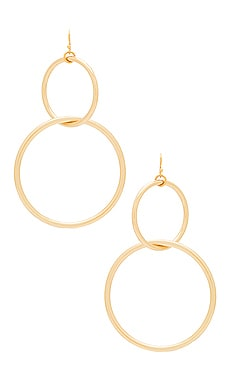 The Interlocking Hoop Earrings Vanessa Mooney $48