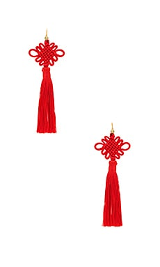 CHINESE GOOD LUCK TASSEL イヤリング