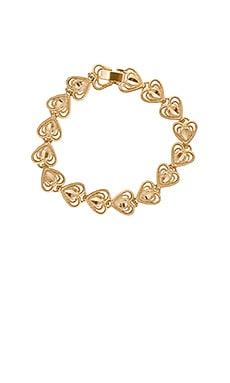 Фото - Браслет heart - Vanessa Mooney цвет металлический золотой