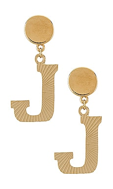 The Illusion J Initial Earrings Vanessa Mooney $28 (FINAL SALE)