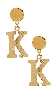 The Illusion K Initial Earrings Vanessa Mooney $31