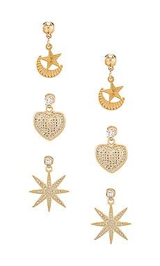 Starlover Earring Set Vanessa Mooney $56