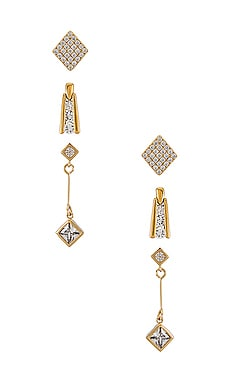 SET PENDIENTES THE DECO DIAMOND Vanessa Mooney $28 (Rebajas sin devolución)