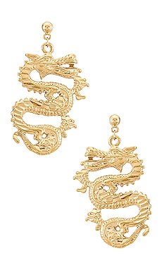 PENDIENTES OPHELIA DRAGON Vanessa Mooney $95