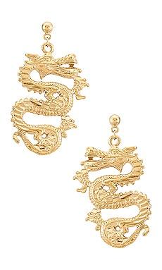 The Ophelia Dragon Earrings Vanessa Mooney $95