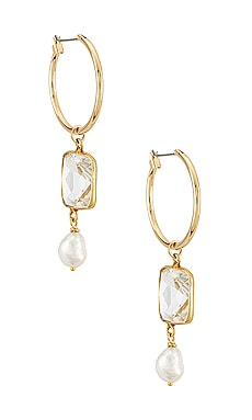 The Celena Pearl Earrings Vanessa Mooney $62