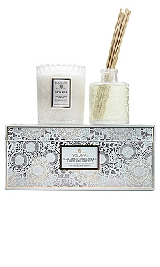 Mokara Scalloped Candle & Diffuser Gift Set Voluspa $48 BEST SELLER