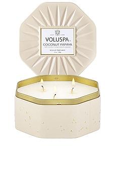 Coconut Papaya Octagon Tin Candle Voluspa $24 BEST SELLER
