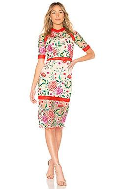 Купить Платье mira - VONE, Кружево, Индонезия, Красный