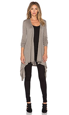 Vintageous The Robe Cardigan in Taupe