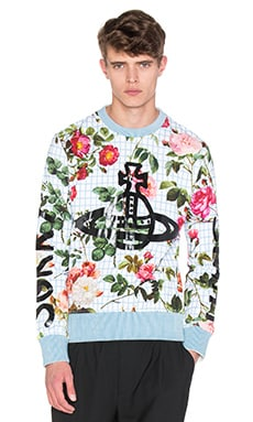 Vivienne Westwood Man Roses Sorry Sight Floral Sweatshirt in White Floral