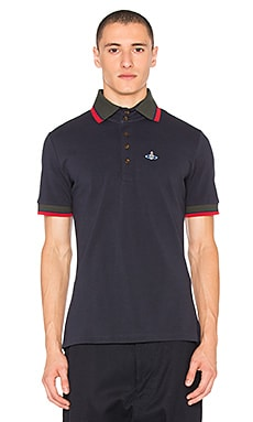 Vivienne Westwood Man Krall Polo in Navy