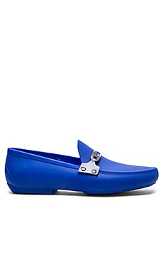 Vivienne Westwood Safety Pin Enamelled Moccasin in Blue