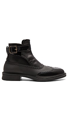 Vivienne Westwood Jodhpur Brogue Boot in Black & Black