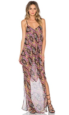The Allflower Height Maxi Dress in Multi Scarf Print