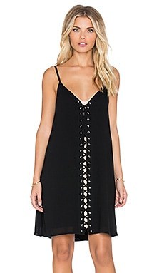 The Allflower Pocahontas Lace Up Dress in Black