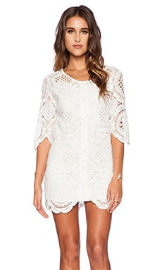 The Wallflower Daisy Lace Dress in White