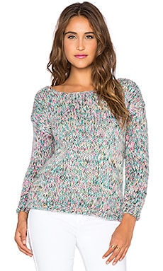 The Wallflower Confetti Sweater in Lilac & White