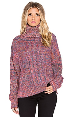 The Allflower Creative Thankful Turtleneck Sweater in Multi
