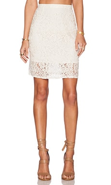 The Wallflower Holiday Lace Skirt in Cream