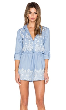 The Wallflower Surreal Romper in Denim