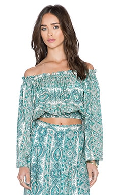 The Wallflower Launch Top in Paisley Print