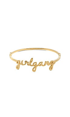 Girl Gang Bangle in Gold