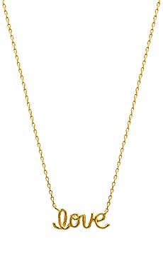 Wanderlust + Co Love Twist Necklace in Gold