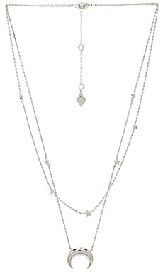 Crescent & Constellation Layered Necklace Wanderlust + Co $49