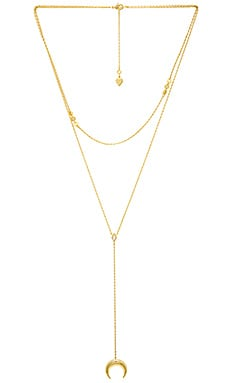 Crescent Diamante Layered Necklace Wanderlust + Co $36