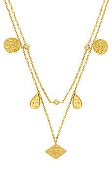 Купить Золотой, Ожерелье galaxy charms - Wanderlust + Co, Китай, Металлический золотой, Женский
