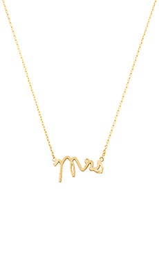 Wanderlust + Co Mrs Necklace in Gold