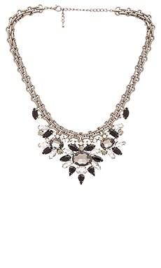 Wanderlust + Co Starry Multi Pendant Necklace in Gunmetal