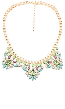 Wanderlust + Co Industrial Deco Bib Necklace in Mint