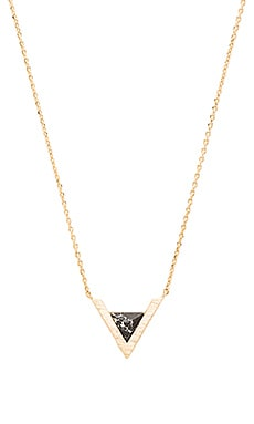Wanderlust + Co Delta Necklace in Gold