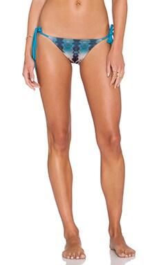 WATER GLAMOUR Inyo Braid Reversible Side Tie Bikini Bottom in Jade Tie Dye & Jade