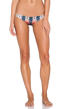 WATER GLAMOUR Inyo Reversible Braid Bikini Bottom in Tie Dye & Nude