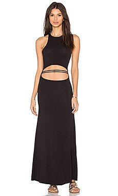 WATER GLAMOUR High Neck Peek A Boo Dress in Black
