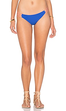 WATER GLAMOUR Mia Bikini Bottom in Sadona Blue & Coral