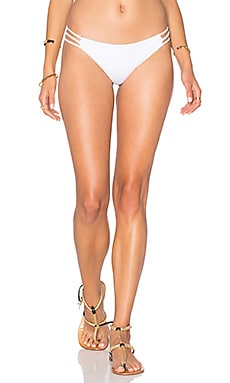 WATER GLAMOUR Mia Braid Bikini Bottom in White
