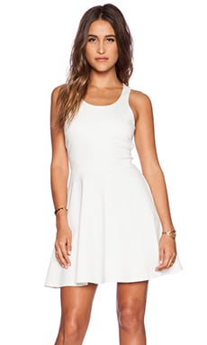 WAYF Fit & Flare Dress in Solid White