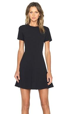 WAYF Short Sleeve Dress in Black