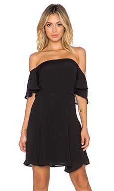 WAYF Off Shoulder Dress in Black