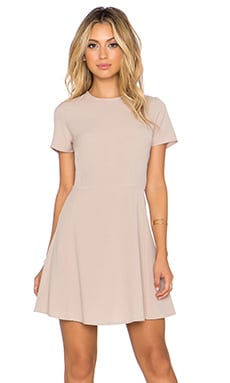 WAYF x REVOLVE Short Sleeve Dress in Khaki